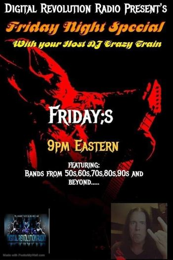 🎸🎸🎸🎸🎸🎸🎸🎸🎸🎸🎸Lets rock some kickass Classic Rock tonight onn The Friday Night Special with me your host DJ Craz…
